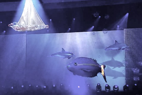 Unterwasser Show mit Helene Fischer von Airstage